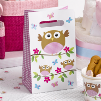 Little Owls Pink Party Bags (5)